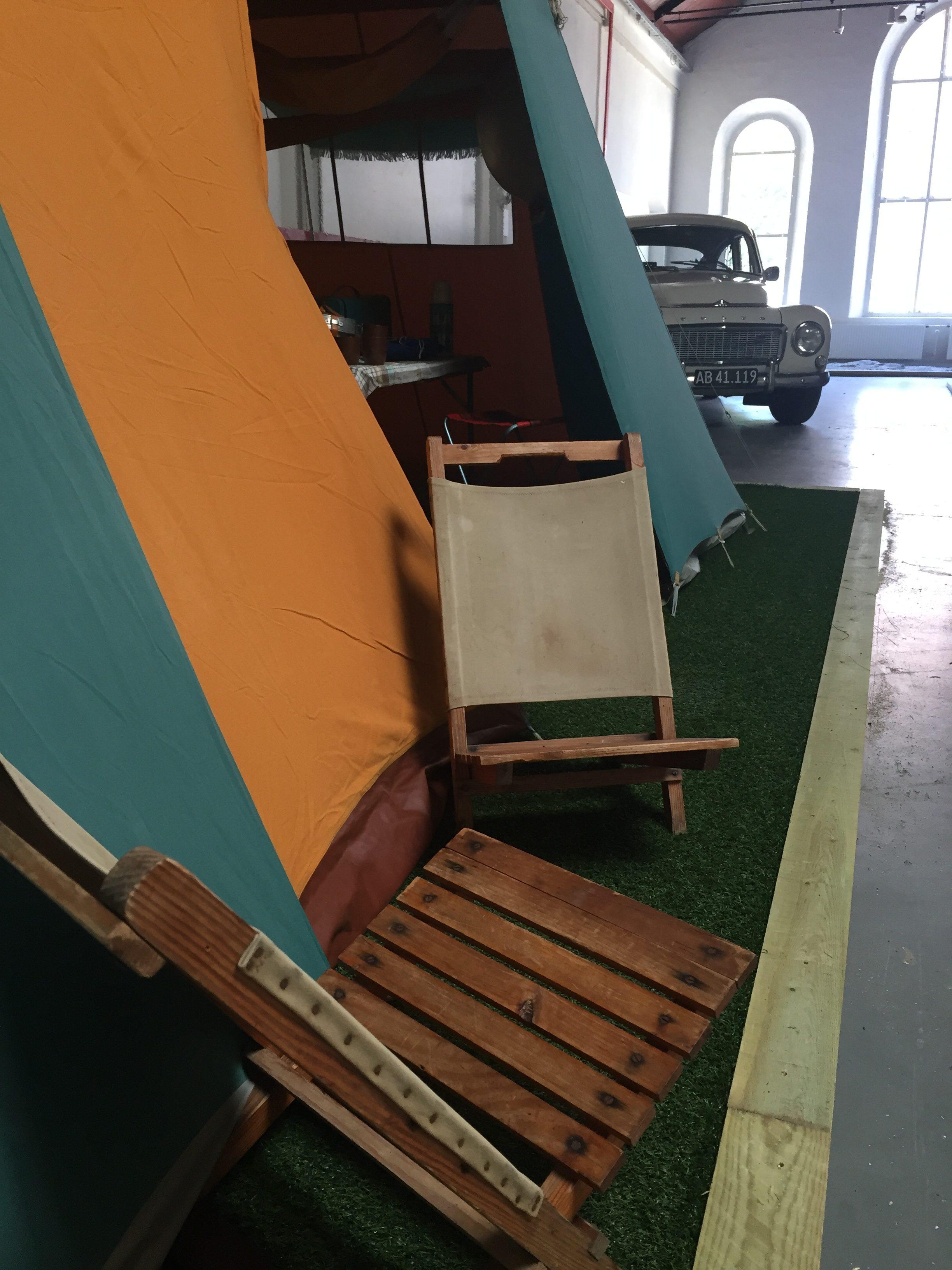 Camping udstyr 1960´erne